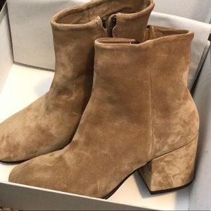 Alberto Fermani tan suede booties size 38.5/US 8